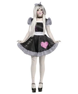 Womens Broken Lolita Doll Costume