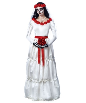 Dead Bride Halloween Costume.Day Of The Dead Bride Women S Costume