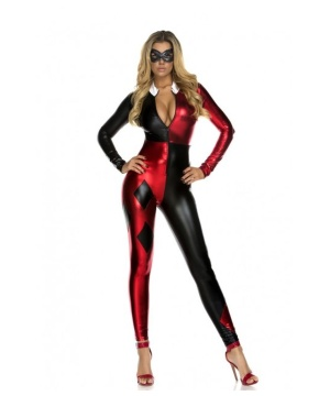 Womens Harley Quinn Catsuit Costume