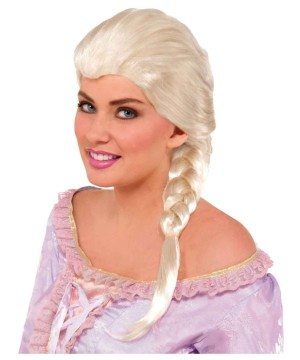 Princess Elsa Womens Wig deluxe