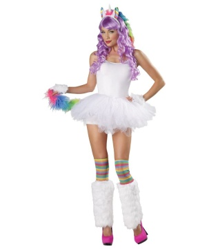 Womens Rainbow Unicorn Costume Kit