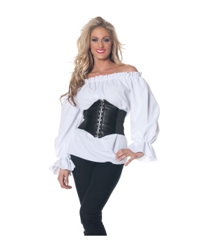 Womens Renaissance Blouse Costume White