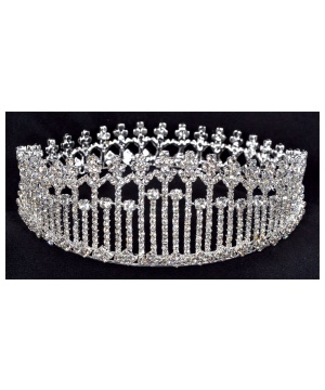 Womens Rhinestone Queen Crown