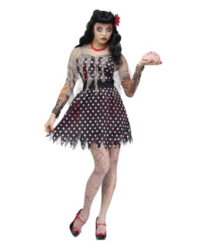 Womens Rockabilly Zombie Costume