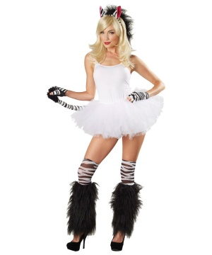 Womens Sexy Zebra Costume Kit