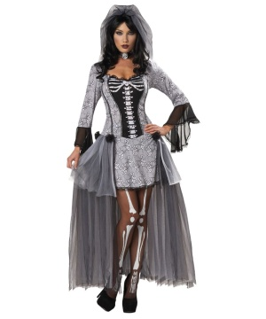 Womens Skeleton Bride Costume