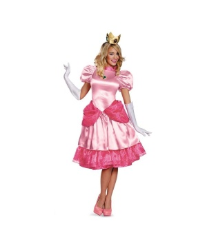 Womens Super Mario Princess Peach Costume