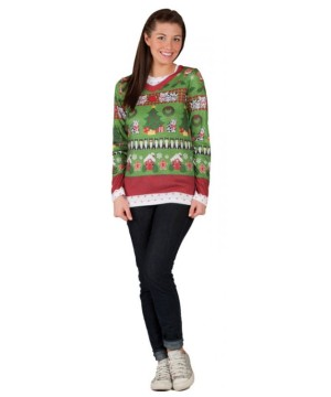 Ugly Christmas Sweater Womens Costume T-shirt