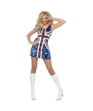 Womens Union Jack Dress Costume