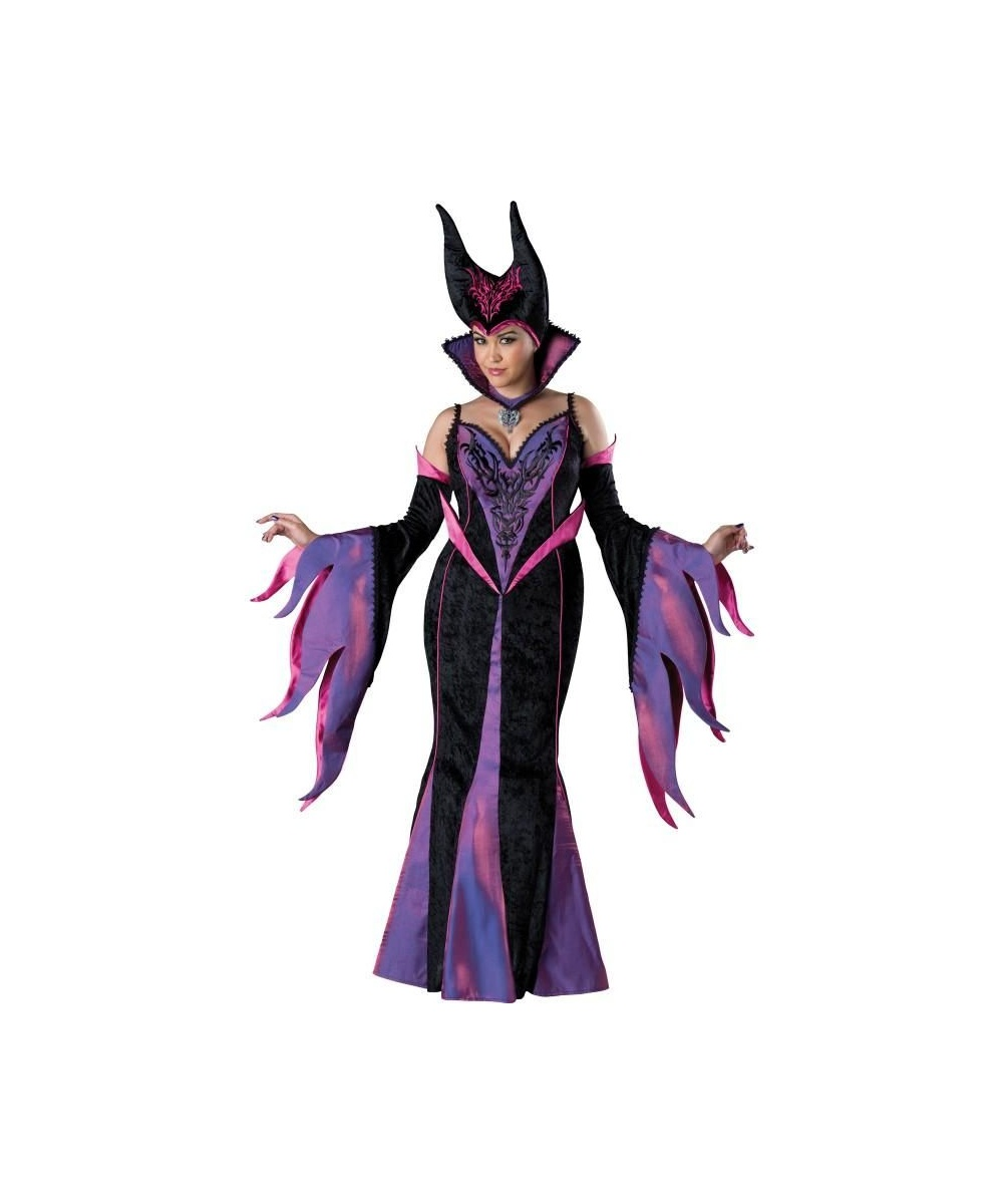 Evil Delight Maleficent Womens Plus Size Costume Disney