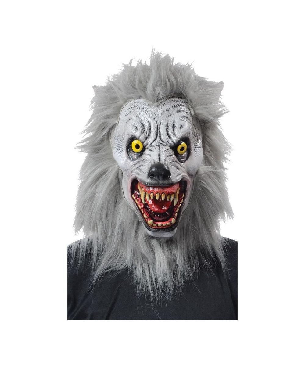 Albino Werewolf Costume Mask