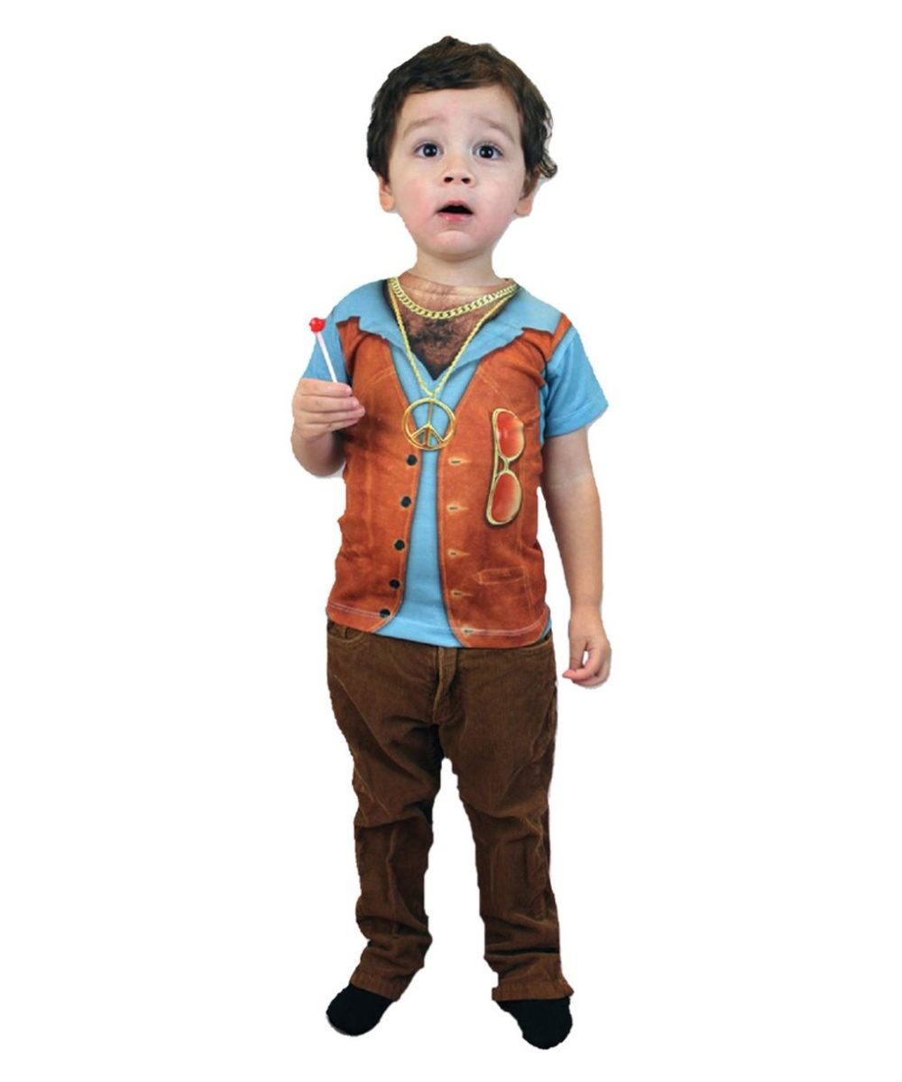 26755dd112d Hairy Chest Hippie Boys Costume Shirt - Boys Costume