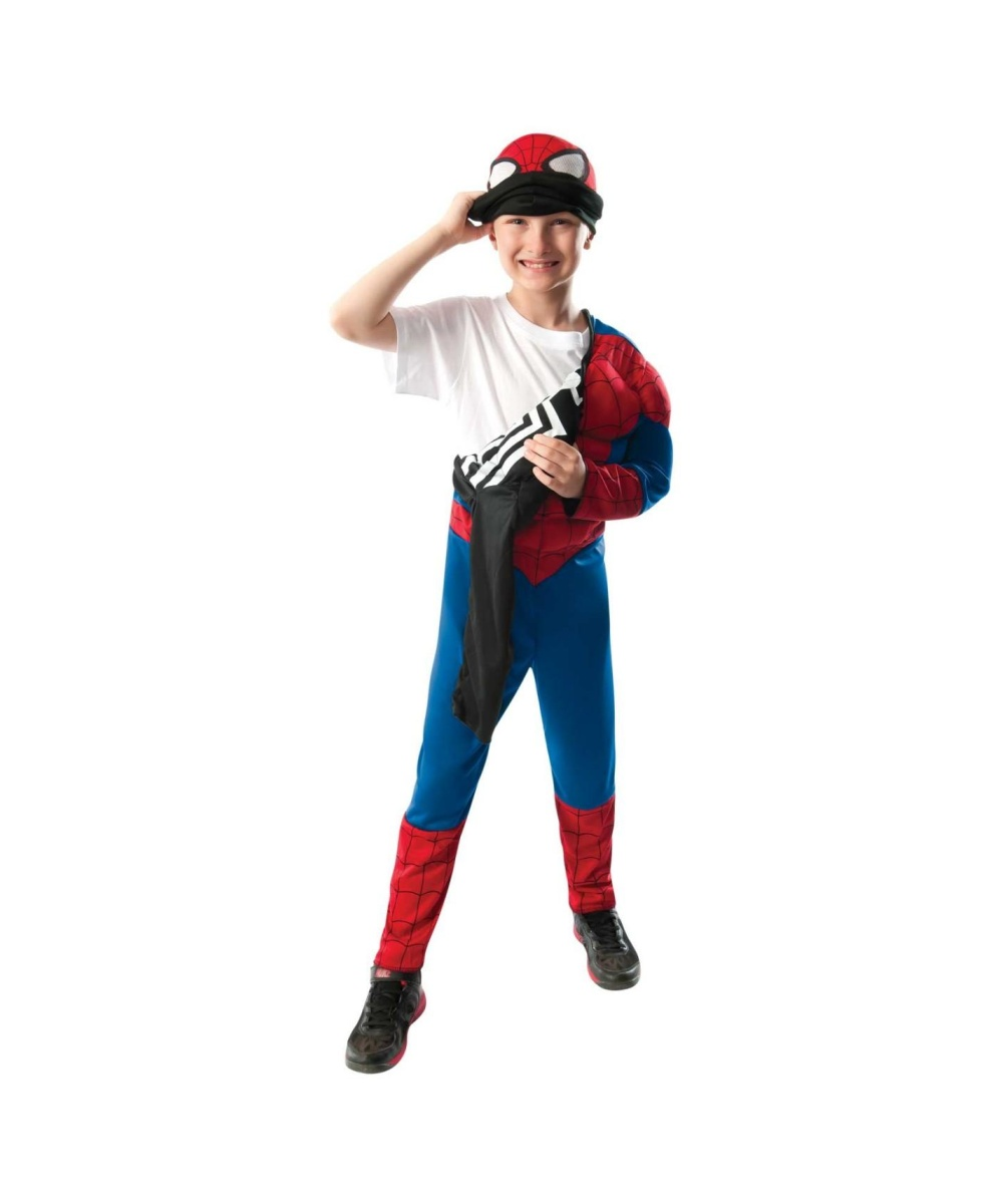 Boys Spiderman Reversible Costume