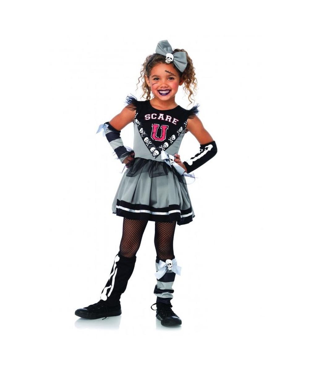 scare u cheerleader girls costume girls costume