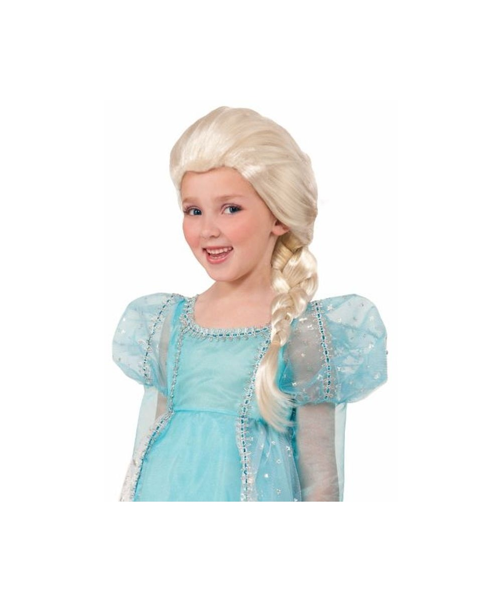 Girls Princess Elsa Wig