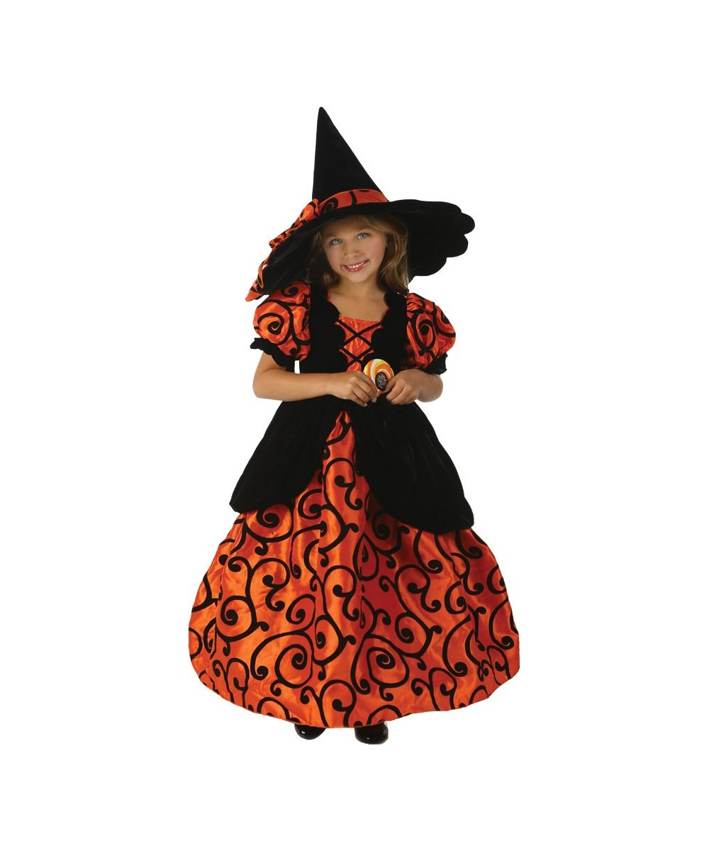 Girls Shirley Pocket Witch Costume
