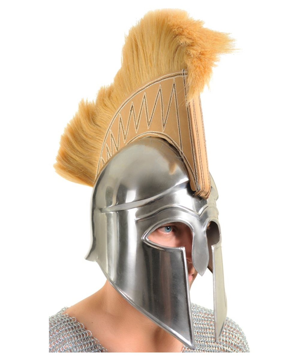 sc 1 st  Wonder Costumes & Greek Spartan Warrior Armor Helmet - Men Costume