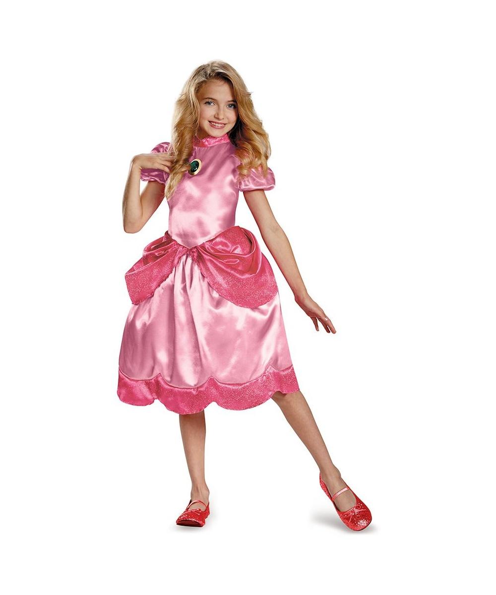 Princess Peach Girls Costume - Girls Costume