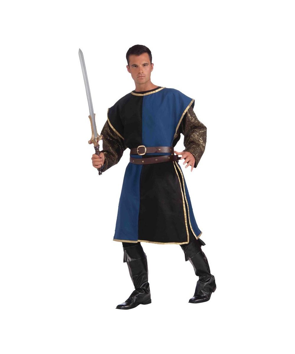 Medieval Knight Blue Mens Tabard