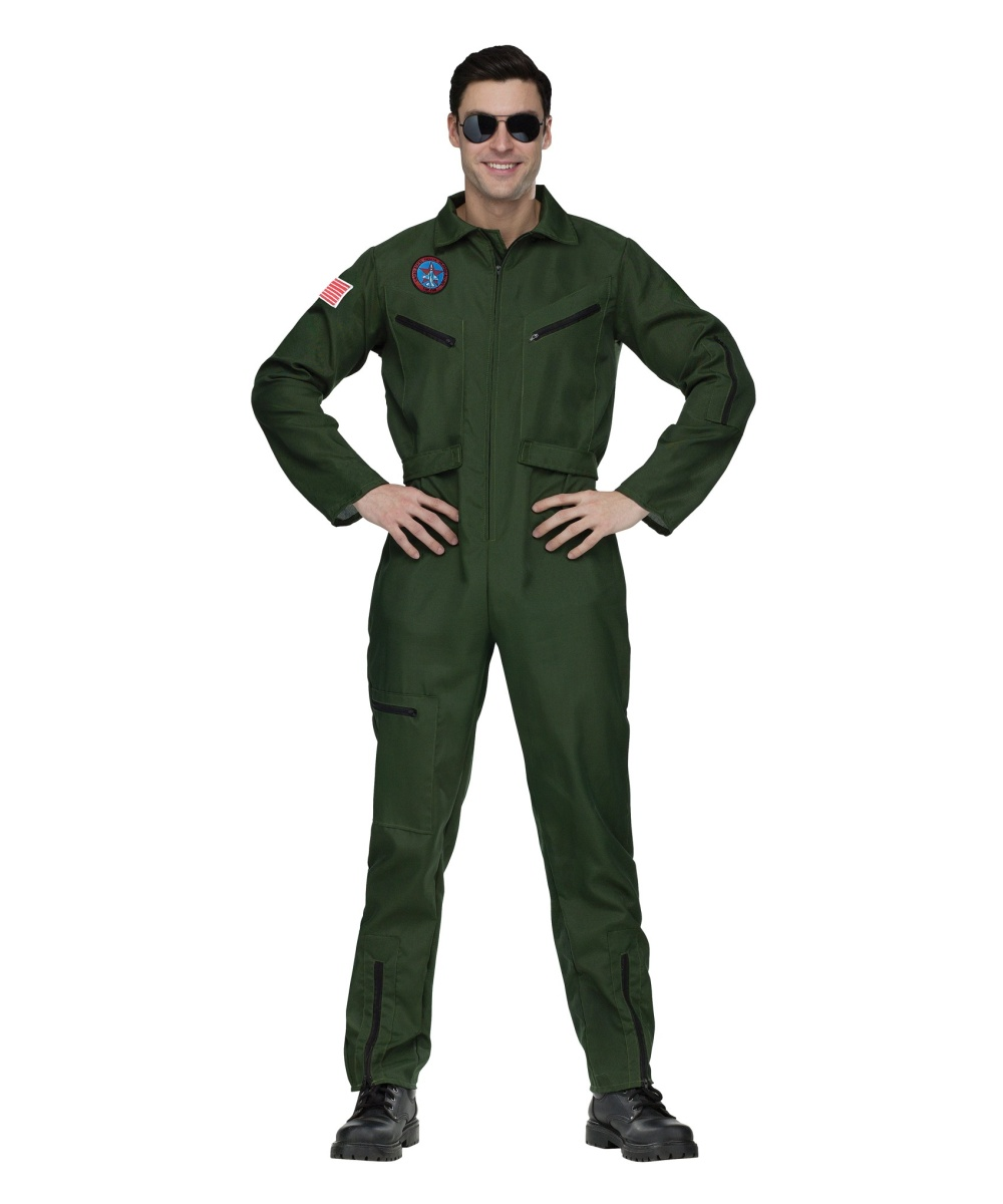 Plus Size Top Gun Jumpsuit Costume  Top Gun Mens Outfit