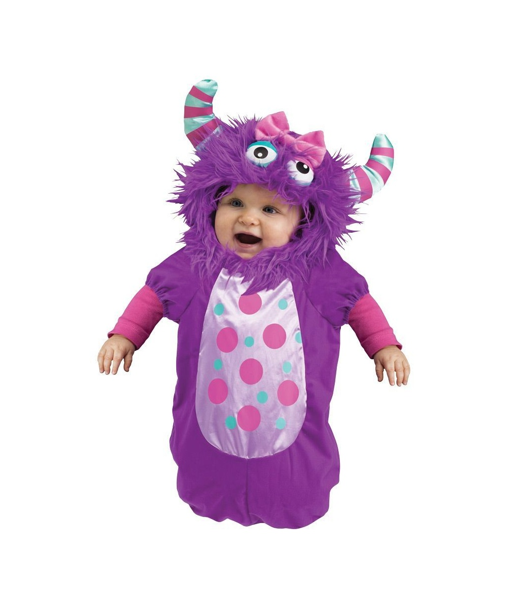 purple monster bunting baby costume. Black Bedroom Furniture Sets. Home Design Ideas