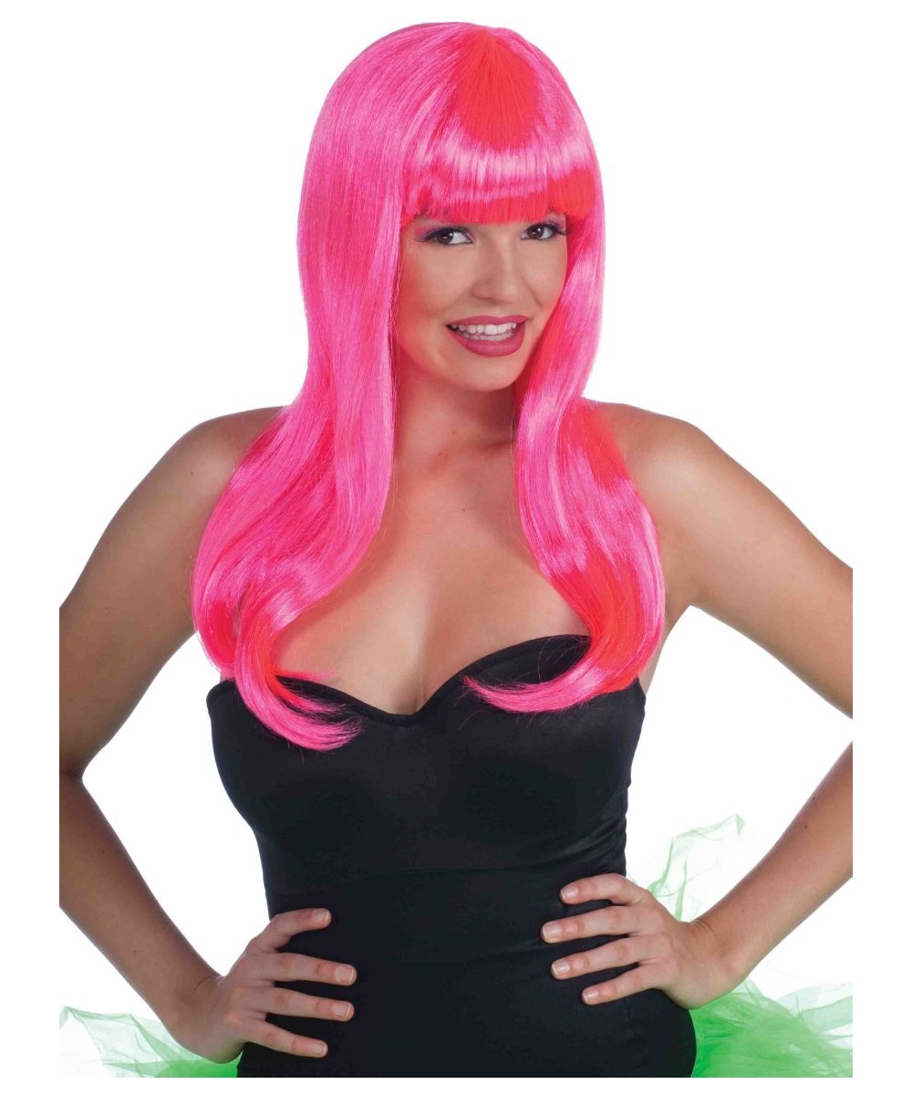 Rave Wig Neon Pink