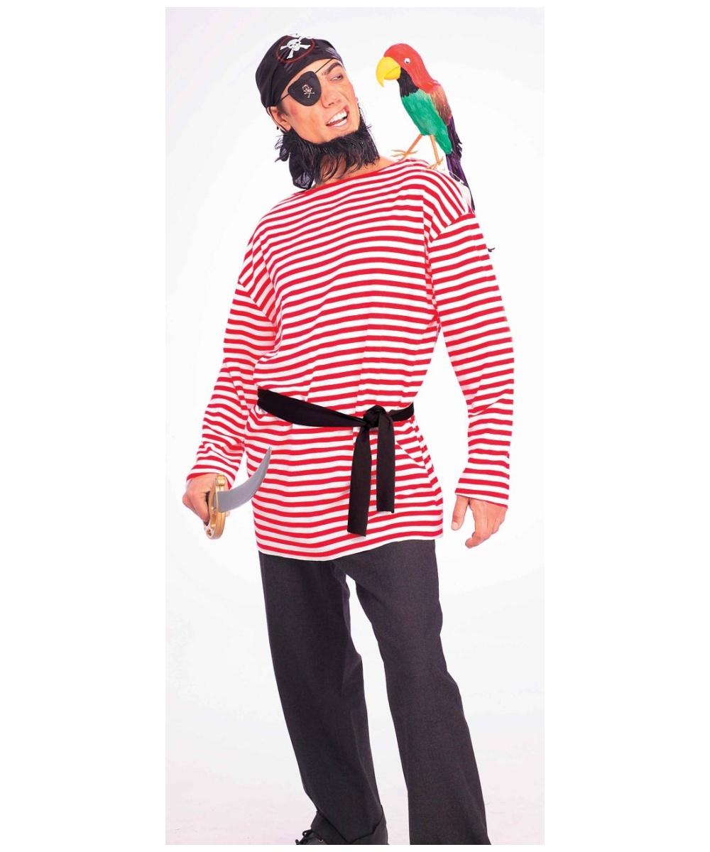 Red Pirate Matie Shirt - Men Costume