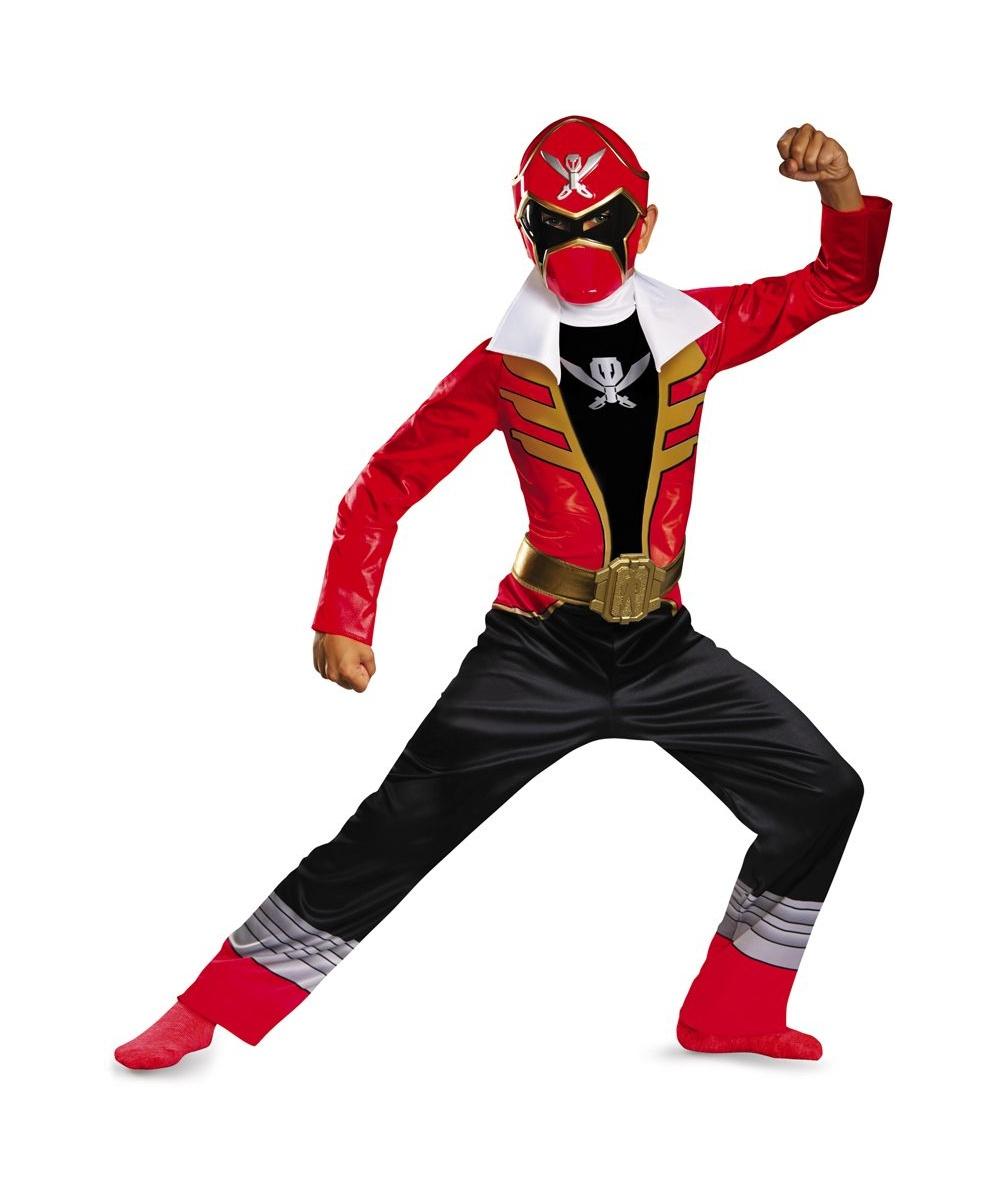 Super Megaforce Red Power Ranger Boys Costume - Boys Costume