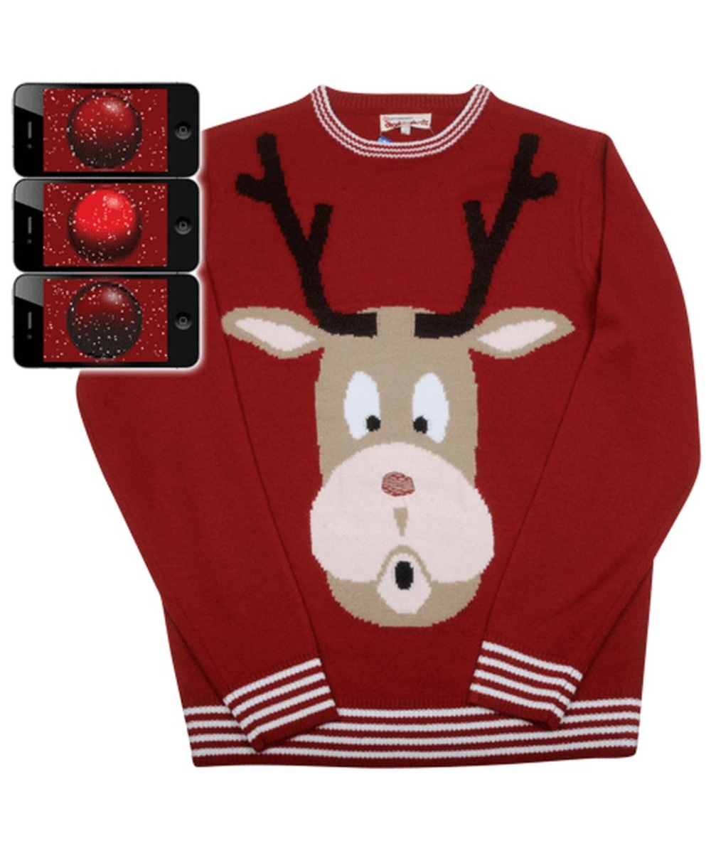 red nosed reindeer rudolph mens ugly christmas sweater christmas costumes - Cheap Mens Ugly Christmas Sweater