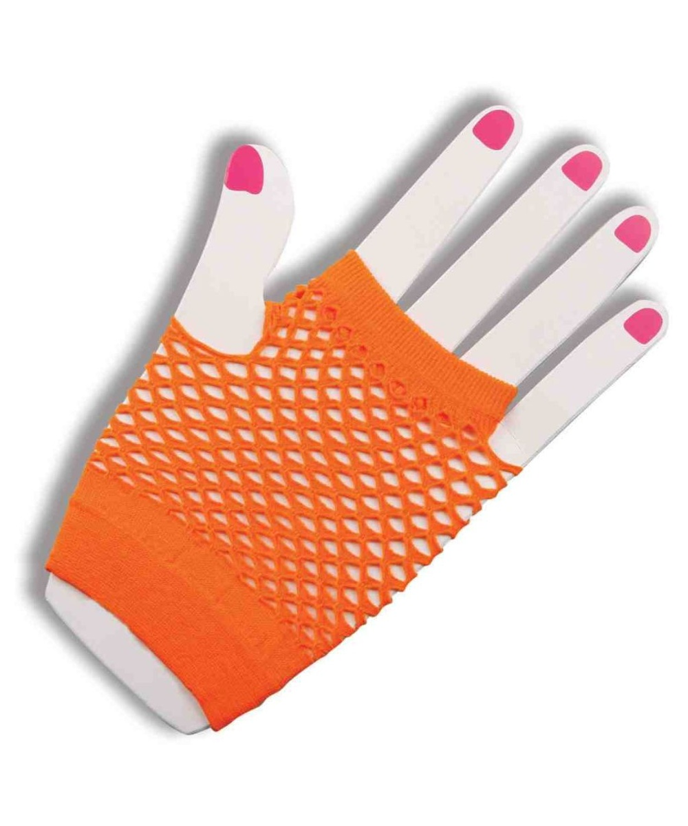 Womens Fingerless Fishnet Gloves