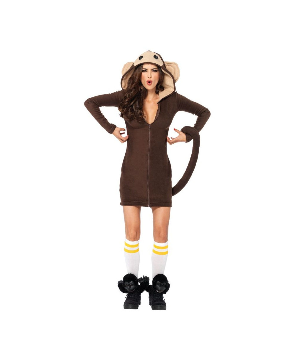 Cozy Monkey Womens Costume - Women Costume-4561
