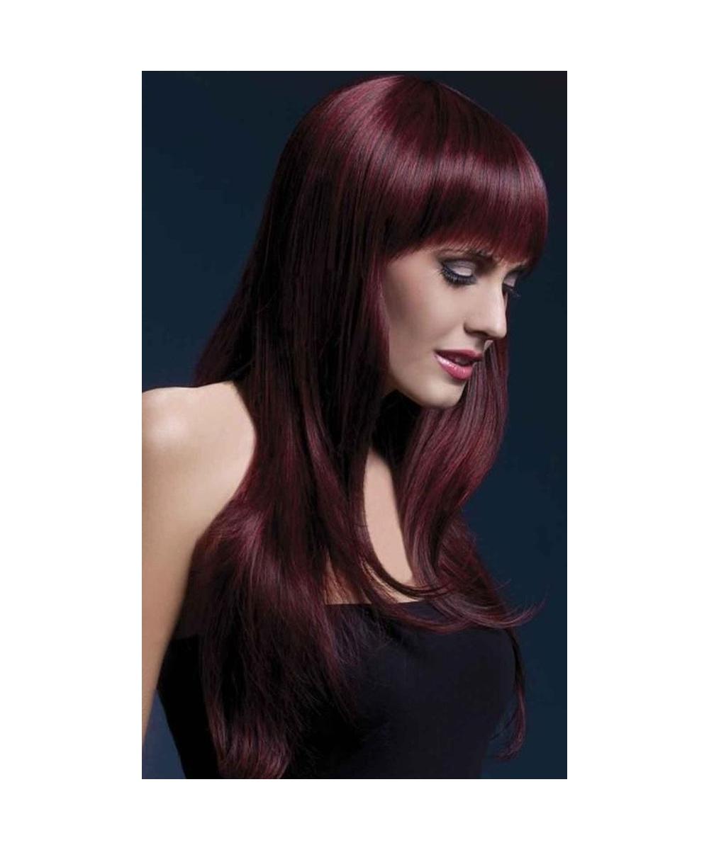 Womens Realistic Black Cherry Wig - Wigs a2bf14082
