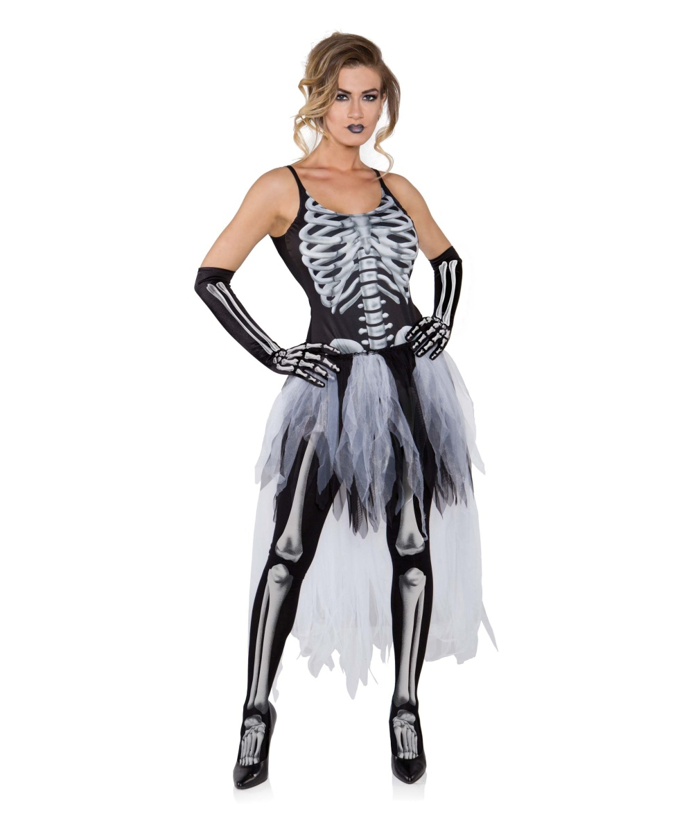 Sexy Skeleton Womens Costume