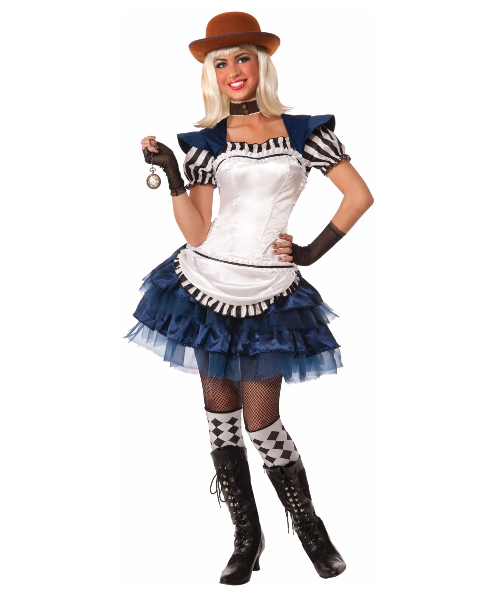Ste&unk Fairytales Alice Womens Costume  sc 1 st  Wonder Costumes & Steampunk Costumes - Science Fiction u0026 Victorian outfits
