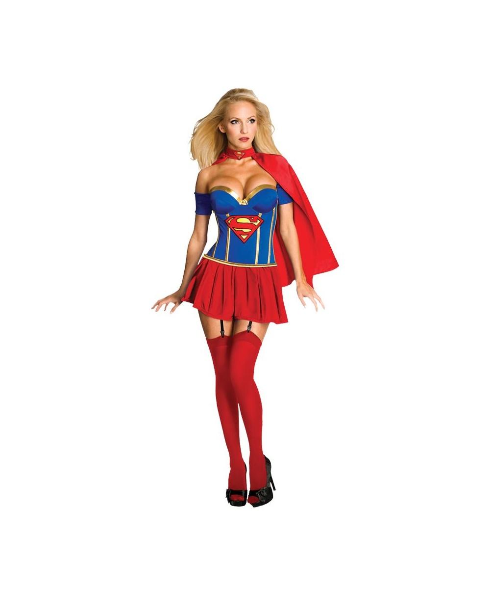 sc 1 st  Halloween Costumes & Super Pretty Supergirl Womenu0027s Costume - Women Costume