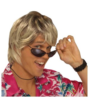 Beach Bum Surfer Blonde Wig