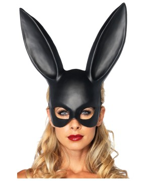 Black Bunny Party Mask