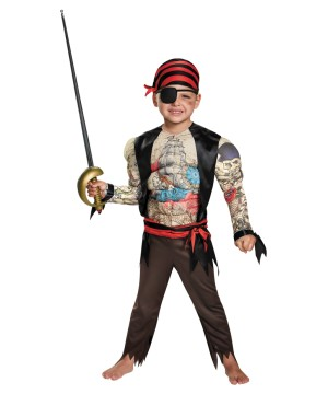 Boys Beefcake Pirate Baby Costume