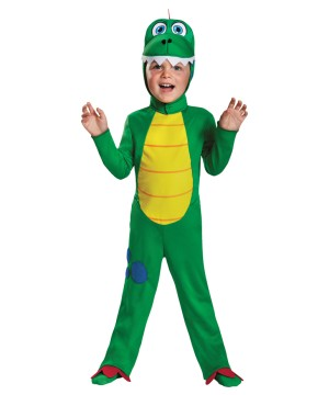 Ferocious Green Dino Toddler Boys Costume