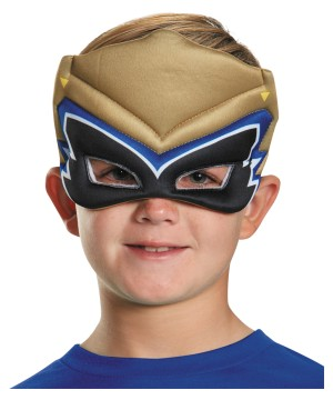 Boys Gold Dino Puffy Mask