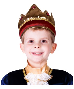 Boys Red King Crown