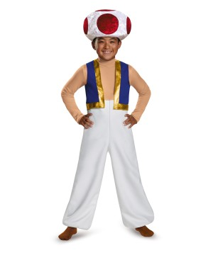 Boys Toad Super Mario Costume