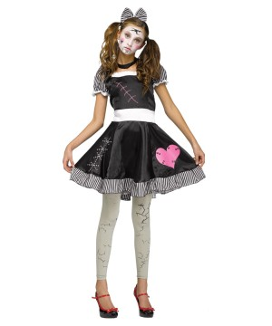Broken Toy Doll Teen Costume
