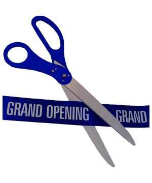 Ceremonial Scissors Ribbon Set Blue