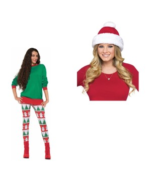 Christmas Hat and Leggings Set