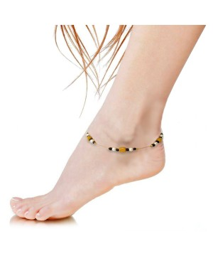 Colored Beads Indian Ethnic Anklet