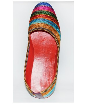Colorful Indian Artisan Crafted Slippers