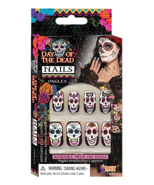 Day Dead Prosthetic Nails