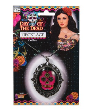Day of the Dea Cameo Necklace