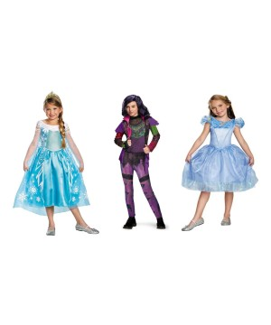 Disney Mal Cinderella and Elsa Costume Set